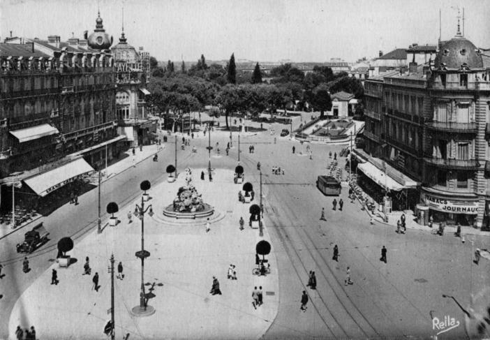 Montpellier - Place de la Comédie - 1949