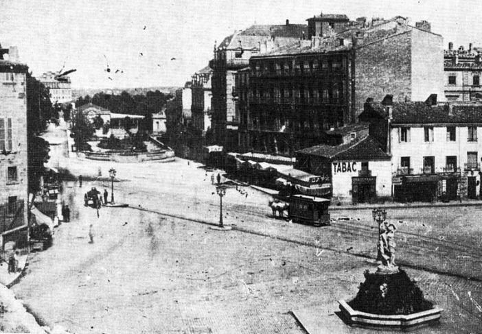 Montpellier - Place de la Comédie - Années 1880
