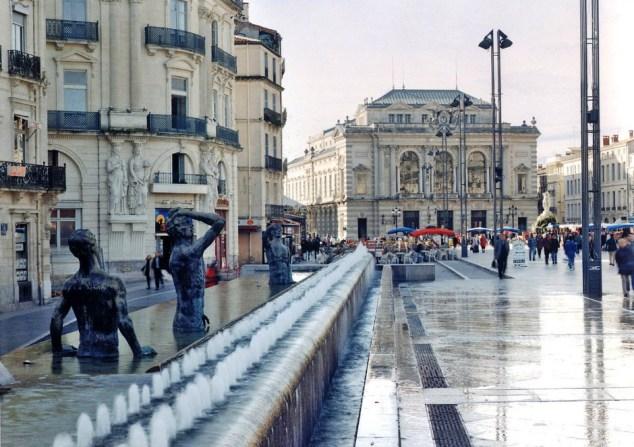 Montpellier - Place de la Comédie - Années 1990