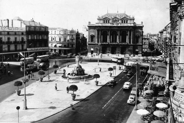 Montpellier - Place de la Comédie - Années 60
