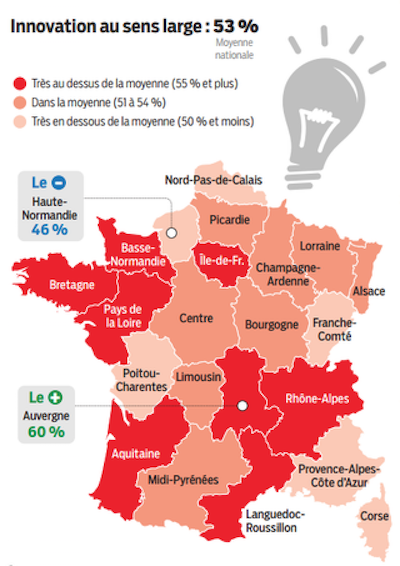 Carte France Innovation régions